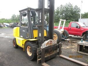 1997 Clark Cgp 50 Forklift 10 000 Lbs Lift With Pneumatic Tires