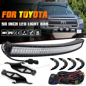 50inch Led Offroad Light Bar upper Roof Brackets Kit For 2007 2014 Toyota Tundra