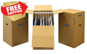 Bankers Box Smoothmove Wardrobe Moving Boxes Tall 24 X 24 X 40 Inches 3