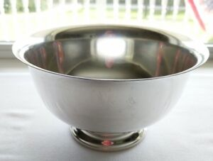 Paul Revere Reproduction Sterling Silver 7 Bowl 107 Hunt Silver Co 11 96 Ozt