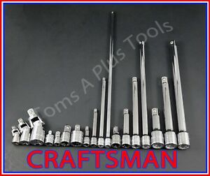 Craftsman Hand Tools 18pc Ratchet Wrench Socket Extension Universal Adapter Set