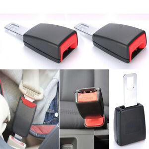2pcs Universal Auto Car Safety Seat Belt Buckle Clip Extension Alarm Extender