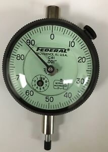 Federal C8i Dial Indicator With Rev Counter And Flat Back 0 250 Range 001