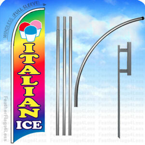 Italian Ice Windless Swooper Flag Kit Feather Banner Sign 15 Set B