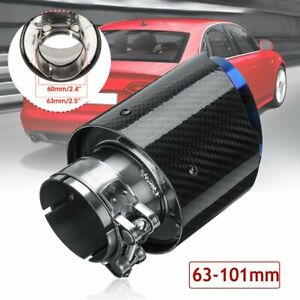 Id 2 5 Od 4 Glossy Carbon Fiber Rear Exhaust Tips Universal Car Exhaust Pipe