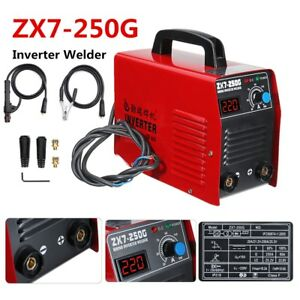 Portable Arc 250amp Stick Welder Dc Inverter Mma Zx7 250g Welding Machine Igbt