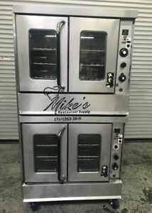 Gas Convection Oven Double Stack Bakery Depth Commercial Montague 115a 8778 Nsf