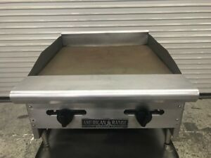 24 Flat Top Counter Top Griddle Gas American Range Armg 8783 Nsf Commercial