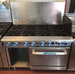 Imperial Commercial Range 8 Burners W 1 Convection Oven Lp Gas Ir 8 c xb