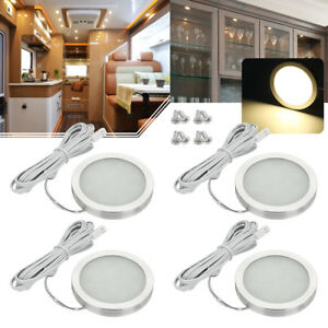 4x Interior Led Spot Light For Camper Van Caravan Motorhome Boat Warm White 12v