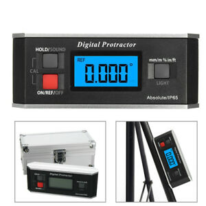 Digital Electronic Protractor Angle Finder Inclinometer V groove Gauge 360 Level