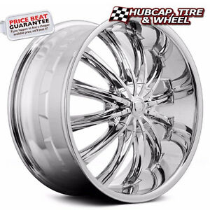 Borghini B15 Chrome 26 x10 Custom Wheel Rim one Wheel Free Us Ship New
