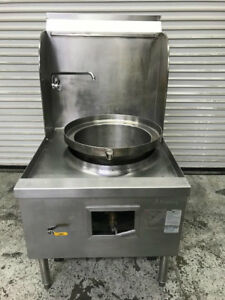 Wok Range Stove 1 Hole Gas Burner Allstrong Are 1 8801 Commercial Stainless Nsf