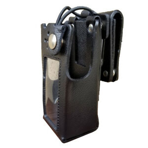 Case Guys Mr8590 3bwd Hard Leather Holster For Motorola Apx 4000 Radios