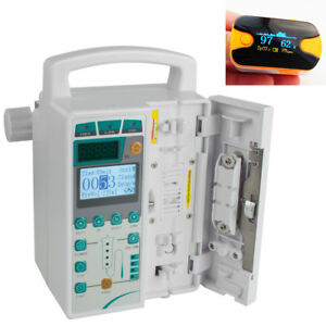Infusion Pump Iv Fluid Equipment Voice Alarm Patient Monitor Kvo Purge oximeter