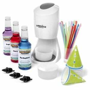 Shaved Ice Machine And Syrup Party Package Includes S900a Shaved Ice Machine