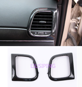 Carbon Fiber Side Air Vent Outlet Frame Trim For Jeep Grand Cherokee 2014 2018