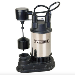 Everbilt 1 3 Hp Submersible Water Sump Pump Electric Stainless Steel Filter New