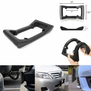 Black Car Auto Front Bumper Guard Eva License Plate Frame Tag Cover Protector