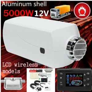 12v 5kw Air Diesel Fuel Heater Set For Truck Boats Bus Car Housing lcd Monitor