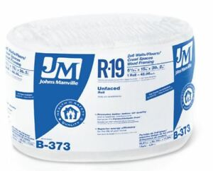 Johns Manville 90003721 Unfaced R 19 Fiberglass Insulation Roll 15 X 39 2