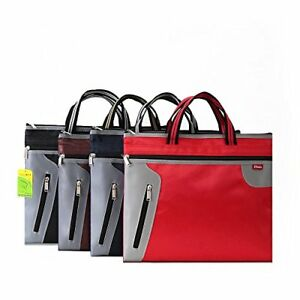 Business Document Bag A4 Tote File Folder Filing Meeting Case Zipper Pocket