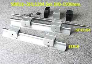 Sbr16 Linear Rail Sliding Guide 1x Sfu1204 Ballscrew Set For Cnc Diy Us Stock