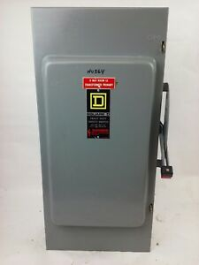 Square D Hu364 Ser E1 Safety Switch 200a 600v 3p Type 1 Enclosure Used