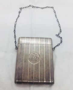 William Kerr Antique Early 1900s Sterling Silver Card Case