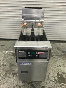 Pitco Solstice Supreme Stainless Steel Natural Gas Deep Fryer 40 50 Lb 8812 Nsf