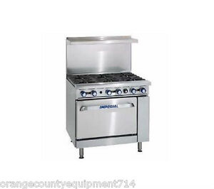 New 36 6 Burner Gas Range Conventional Oven Imperial Ir 6 4572 Restaurant