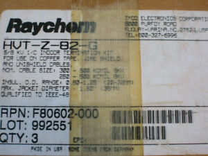 raychem Hvt z 82 g In outdoor Termination Kits New In Box 3 Count