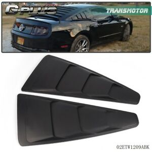 For 2005 2014 Ford Mustang Black Vent 1 4 Quarter Side Window Louver Cover