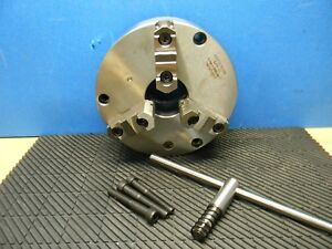 Bison 10 Dia 3 jaw Semi steel Front Mount Manual Lathe Chuck 7 812 100 3275 10