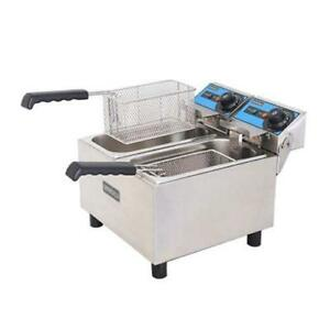 New Double Counter Top Fryer Electric Uniworld Uef 062 3871 Commercial