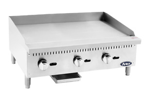 New 36 Gas Griddle Atosa Atmg 36 2550 Commercial Plancha Flat Top Restaurant