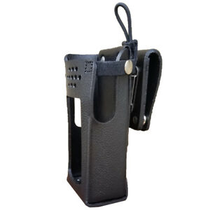 Case Guys Ge7320 3ax Hard Leather Holster For Harris Xl 200 Radios