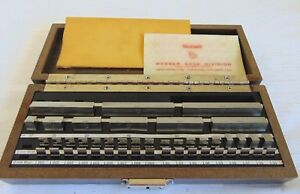 Starrett webber Croblox Gage Block Set Almost Complete Read Description