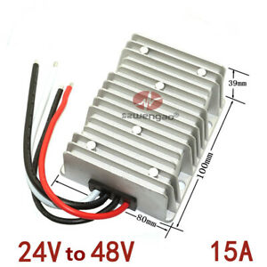 Waterproof Car 24v To 48v Power Supply Regulator 15a Dc dc 720w