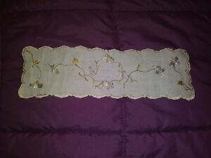Silk Society Embroidered Bookmark 10 1 2 By 13 12 Sold As Is