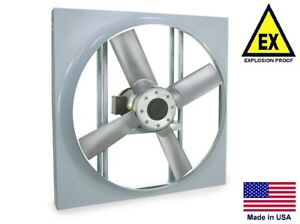 Panel Axial Exhaust Fan Explosion Proof 36 115 230v 2 Hp 18 600 Cfm