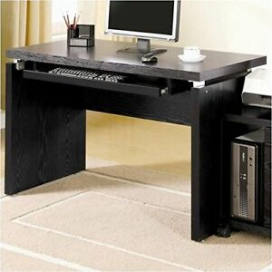 Contemporary Computer Desk Black Contemporary