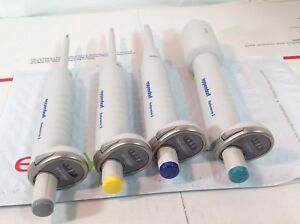 Set Of 4 Eppendorf Reference 2 Pipettes Rfid 10 100 1000 10000 Ul 577