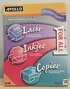 Sealed New Transparency Film Overhead Projector Laser Inkjet Copier Uf1000 Clear