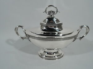 Tiffany Soup Tureen 2560 Antique Serving Bowl American Sterling Silver