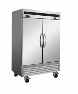 Kool it Ikon Kb54f 3y 47cf 2 door Stainless Steel Commercial Reach in Freezer