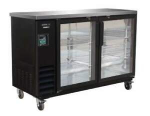 Kool it Ikon Kbb60 2g 3y 61 Commercial 2 door Glass Back Bar Beer Bottle Cooler
