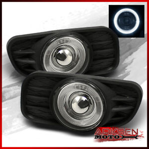 Fits 99 04 Jeep Grand Cherokee Halo Projector Fog Lights Switch Bulbs Pair Lamps