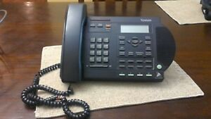 Nortel Venture Black 3 Line Phone Nt2n81aa11 W Stand No Power Cord Untested