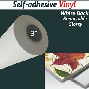 42 x100ft roll 3 9mil removable Self adhesive Inkjet Printing Vinyl whilte Back